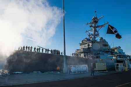 """美军生物燃料舰队""""大绿舰队""""首次作战部署"""